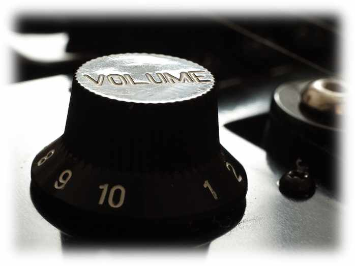 Controlling the volume knob is extremely important in how to tell a story