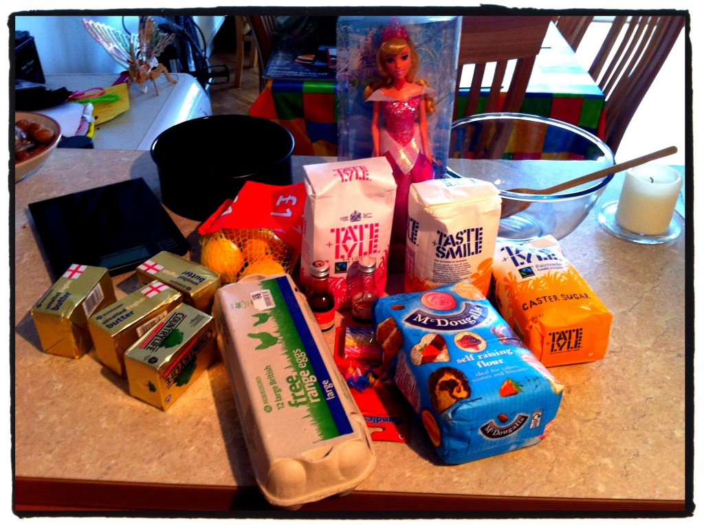 There are a lot of ingredients needed to make a Princess Birthday Cake