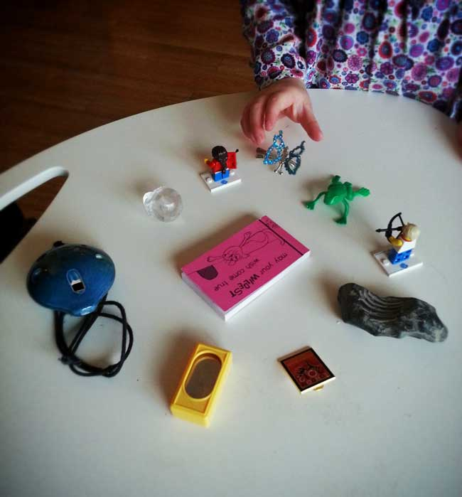 "O playing ""The Missing Item"" with me to help work on her working memory deficiency"